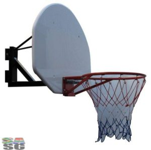 Basketball Hoop and Net with Fan Shaped Backboard