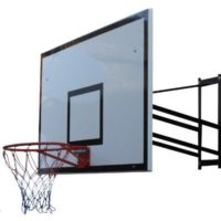 Basketball Hoop and Net with Professional Rectangular Backboard