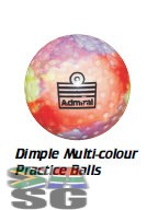 Admiral Dimple Multicolour Practice Hockey Balls Pack of 12