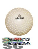 Admiral Dimple White Practice Hockey Balls Pack of 12
