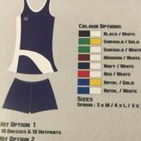 Admiral Arizona Netball Kit Senior - Option 2