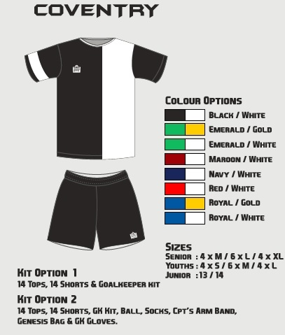 Admiral Coventry Soccer Kit Junior Option 2