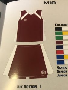 Admiral Mia Netball Kit Senior Option 1