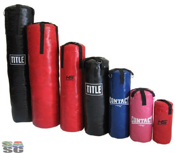 Punch Bags - Large - Red and Black panels